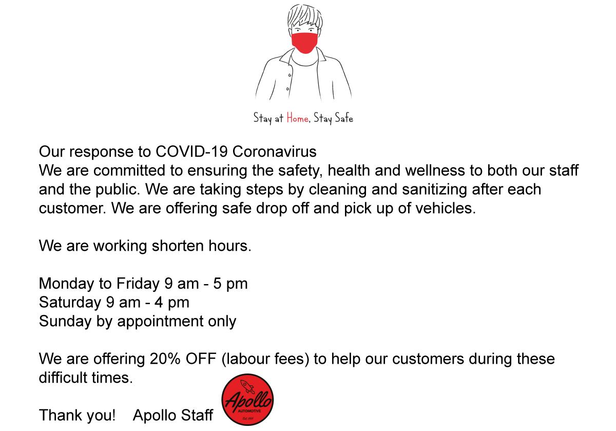 Web Coronavirus Notice